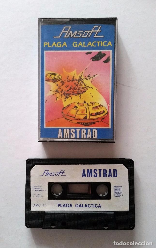 PLAGA GALÁCTICA. JUEGO AMSTRAD EN CASSETTE -FUNCIONANDO- (Juguetes - Videojuegos y Consolas - Amstrad)
