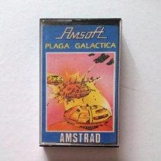 Videojuegos y Consolas: PLAGA GALÁCTICA. JUEGO AMSTRAD EN CASSETTE -FUNCIONANDO-. Lote 65000179