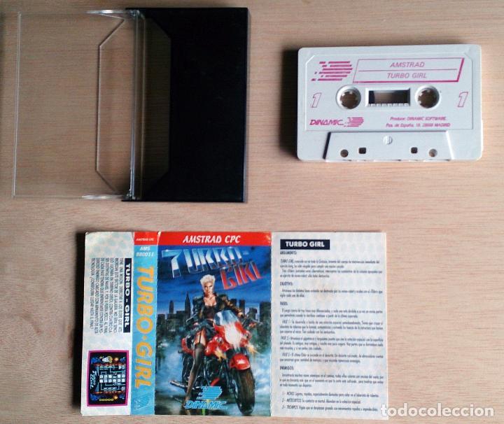 Videojuegos y Consolas: Turbo Girl / Juego Amstrad CPC Cinta / Español / Dinamic 1988 ( Luís Royo Cover ) - Foto 2 - 99281362