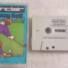 Videojuegos y Consolas: CRAZY GOLF AMSTRAD CPC 646 464 PLUS 1268 CASSETTE. Lote 67975005