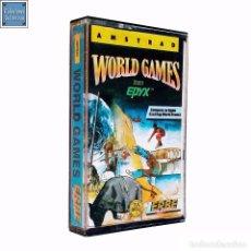 Videojuegos y Consolas: WORLD GAMES / JUEGO AMSTRAD CPC CINTA / ESPAÑOL / ERBE 1987. Lote 68469865