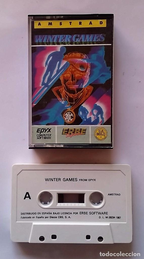 JUEGO AMSTRAD: WINTER GAMES. (Juguetes - Videojuegos y Consolas - Amstrad)