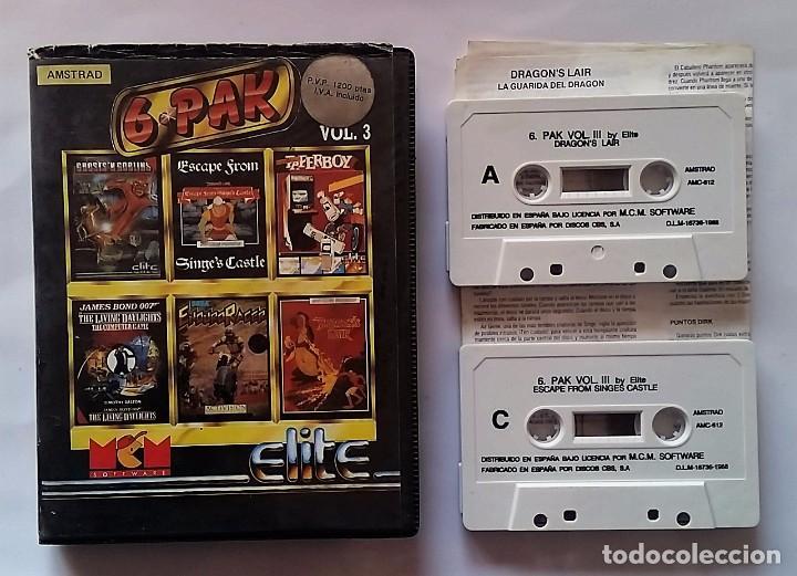 LOTE JUEGOS AMSTRAD 6-PAK VOLUMEN 3 (Juguetes - Videojuegos y Consolas - Amstrad)