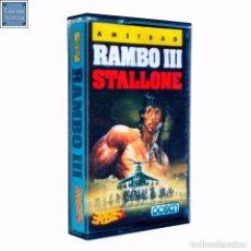 Videojuegos y Consolas: RAMBO III 3 / JUEGO AMSTRAD CPC CINTA / ESPAÑOL / OCEAN ERBE 1988. Lote 73882663