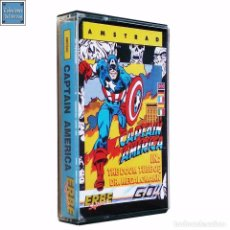 Videojuegos y Consolas: CAPTAIN AMERICA / CAPITÁN AMÉRICA / JUEGO AMSTRAD CPC CINTA / ESPAÑOL / MARVEL GO ERBE 1987. Lote 73883703