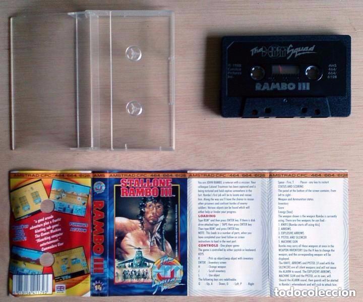 Videojuegos y Consolas: Rambo III 3 / Juego Amstrad CPC Cinta / The Hit Squad 1988 - Foto 2 - 77495069