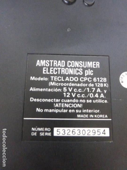 Videojuegos y Consolas: ORDENADOR COMPUTADORA AMSTRAD 128K - TECLADO CPC 6128 + MONITOR GT 65 -BUEN ESTADO DE CONSERVACIÓN- - Foto 2 - 82210856