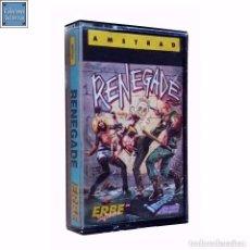 Videojuegos y Consolas: RENEGADE / JUEGO AMSTRAD CPC CINTA / ESPAÑOL / IMAGINE ERBE 1987 ( BOB WAKELIN COVER ). Lote 86480732