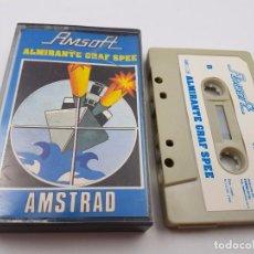Videojuegos y Consolas: JUEGO CASSETTE ALMIRANTE GRAF SPEE AMSOFT 118 ESPAÑA AMSTRAD CPC.COMBINO ENVIO. Lote 90572435