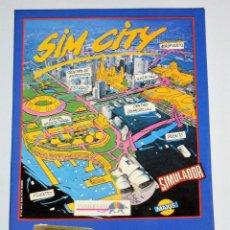 Videogiochi e Consoli: SIM CITY (AMSTRAD DISCO) (ERBE). EDICION ESPAÑOLA.. Lote 95486655