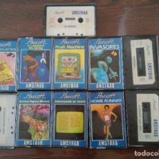 Videojuegos y Consolas: PACK VIDEOJUEGOS AMSOFT AMSTRAD CINTA. Lote 97524499