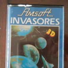 Videojuegos y Consolas: VIDEOJUEGO INVASORES 3D AMSTRAD CINTA. Lote 97531607