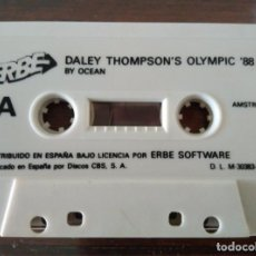 Videojuegos y Consolas: VIDEOJUEGO DALEY THOMPSON'S OLIMPIC '88 AMSTRAD CINTA. Lote 97686775