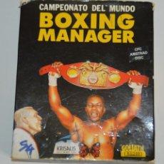 Videojuegos y Consolas: BOXING MANAGER (AMSTRAD DISCO) (S4). EDICION ESPAÑOLA.. Lote 98612531