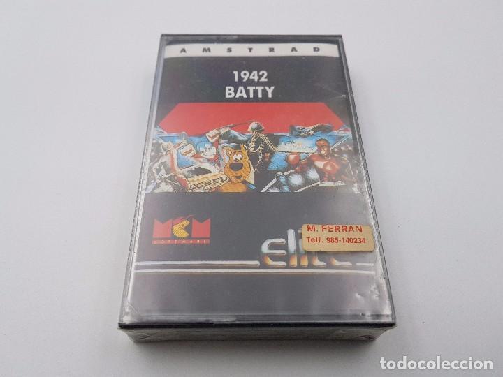 JUEGO CASSETTE 1942 BATTY SEALED PRECINTADO AMSTRAD CPC 464 664.COMBINO ENVIO (Juguetes - Videojuegos y Consolas - Amstrad)
