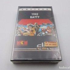 Videojuegos y Consolas: JUEGO CASSETTE 1942 BATTY SEALED PRECINTADO AMSTRAD CPC 464 664.COMBINO ENVIO. Lote 101325487
