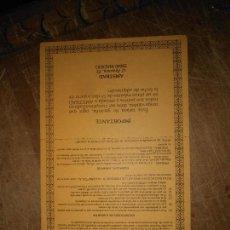 Videojuegos y Consolas: GARANTIA ORIGINAL ORDENADOR AMSTRAD MODELO CPC - 464 AÑO 1989. Lote 101932931