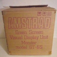 Videojuegos y Consolas: AMSTRAD GREEN SCREEN VISUAL DISPLAY UNIT MONITOR MODEL GT-65 CAJA VACIA. Lote 187329790