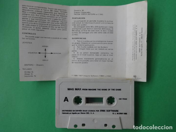 Videojuegos y Consolas: MAG MAX MAGMAX AMSTRAD CPC 464 472 664 6128 - Foto 3 - 110745487