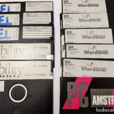 Videojuegos y Consolas: LOTE DISCO 5 1/4 PC AMSTRAD WORDSTAR ABILITY 2000 + DISCOS GRABADOS DBASE III ORDENADOR. Lote 115174367