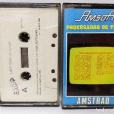 Videojuegos y Consolas: AMSTRAD PROCESADOR DE TEXTOS + JUEGO CASSETTE CASETTE CINTA AMSOFT ORDENADOR. Lote 115174919