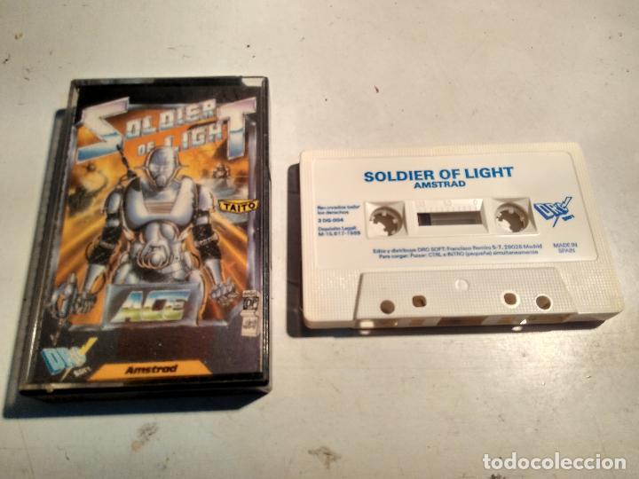 AMSTRAD CINTA - JUEGO SOLDIER OF LIGHT (Juguetes - Videojuegos y Consolas - Amstrad)