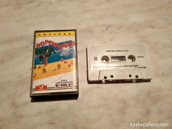 AMSTRAD CINTA - JUEGO HOPPING MAD (Juguetes - Videojuegos y Consolas - Amstrad)