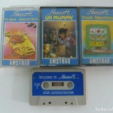 Videojuegos y Consolas: VARIOS DE AMSOFT / AMSTRAD CPC 464 / CASSETTE / JUEGO RETRO VINTAGE EN CINTA. Lote 121141675