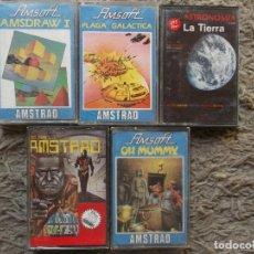 Videojuegos y Consolas: LOTE 5 JUEGOS ANSTRAD. Lote 127736399