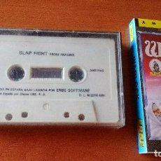 Videojuegos y Consolas: SLAP FIGHT - JUEGO CASETE - JUEGO CINTA AMSTRAD + PORTADA JUEGO WARLOCK. Lote 128652775