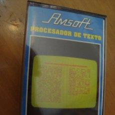 Videojuegos y Consolas: JUEGO CINTA AMSTRAD PROCESADOR DE TEXTO AMSOFT CON INSTRUCCIONES 1985. Lote 129096271