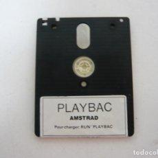 Videojuegos y Consolas: PLAYBAC - JUEGO AMSTRAD CPC 6128 - RETRO - VINTAGE - DISCO - DISKETTE. Lote 131152432