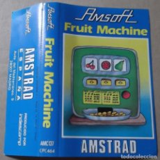 Videojuegos y Consolas: CARATULA AMSOFT JUEGO FRUIT MACHINE AMSTRAD ESPAÑA CASSETTE. Lote 131217760