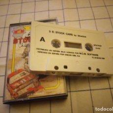 Videojuegos y Consolas: JUEGO , 3D STOCK CAR.SEPCTRUM. AMSTRAD CASSETTE.. Lote 133715950