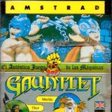 Videojuegos y Consolas: VESIV CASETE JUEGO ORDENADOR AMSTRAD GAUNLETB FROM ATARI GAMES . Lote 137179234