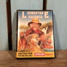 Videojuegos y Consolas: DIFÍCIL JUEGO AMSTRAD PCW LIVINGSTONE SUPONGO. Lote 137539708