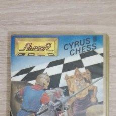 Videojuegos y Consolas: CYRUS II CHESS-3D CHESS-AMSTRAD CASSETTE DE AMSOFT CON ESTUCHE ORO.AÑO 1985.COMO NUEVO.. Lote 140335634