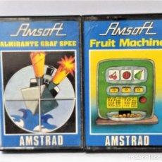 Videojuegos y Consolas: AMSTRAD LOTE 2 JUEGOS CASSETTE AMSOTT ALMIRANTE GRAF SPEE - FRUIT MACHINE CONSOLA VIDEOJUEGO GAME. Lote 140530098