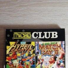 Videojuegos y Consolas: MICRO-CLUB HYPERSPORTS Y MATCH DAY II-AMSTRAD DISCO-ERBE-AÑO 1985-1987 MUY BUEN ESTADO. Lote 140548022