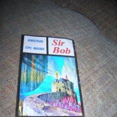 Videojuegos y Consolas: CARATULA CASETE JUEGO SIR BOB. AMSTRAD CPC 464/664. EN CASTELLANO, DISTRIBUIDO POR MONSER, AÑO 1986.. Lote 141253462