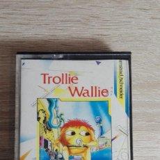 Videojuegos y Consolas: TROLLIE WALLIE-AMSTRAD CASSETTE-COMPULOGICAL-AÑO 1987-CON INSTRUCCIONES DORSO CARÁTULA.. Lote 141520378