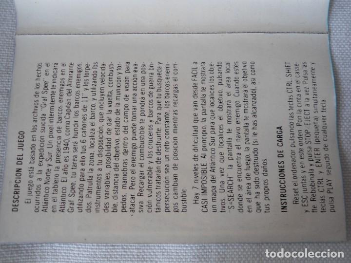 Videojuegos y Consolas: CINTA AMSTRAD ALMIRANTE GRAF SPEE 1985 - Foto 6 - 141704594