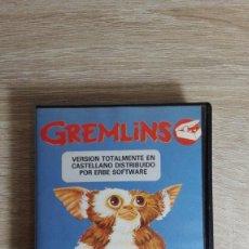 Videojuegos y Consolas: GREMLINS-AMSTRAD CASSETTE CON ESTUCHE NEGRO ALMEJA-ERBE SOFT.1985-V.ESPAÑA CON MAPA-MUY DIFICIL.. Lote 142263214