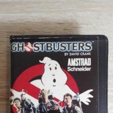Videojuegos y Consolas: GHOSTBUSTERS-(CAZAFANTASMAS)-AMSTRAD CASSETTE-ESTUCHE NEGRO-ACTIVISION-1985-CON MANUAL.IMPECABLE.. Lote 142279698