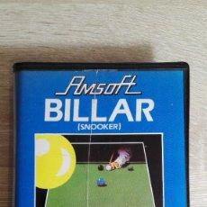Videojuegos y Consolas: BILLAR(SNOOKER)-AMSTRAD CASSETTE CON ESTUCHE-AMSOFT-AÑO 1984-CON MANUAL INSTRUCCIONES.. Lote 142280462
