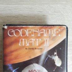 Videojuegos y Consolas: CODENAME MAT II-AMSTRAD CASSETTE CON ESTUCHE-DOMARK-AÑO 1985-DIFÍCIL.CON MANUAL INSTRUCCIONES.. Lote 142281378
