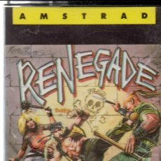Videojuegos y Consolas: AMSTRAD - RENEGADE - PC GAME - CASSETTE - K7 . Lote 143761854