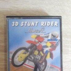 Videojuegos y Consolas: 3D STUNT RIDER-AMSTRAD CASSETTE-METACRILATO-AMSOFT-AÑO 1986.CON INSTRUCCIONES.. Lote 146676198
