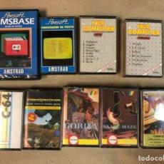 Videojuegos y Consolas: LOTE DE 9 CASETES PARA AMSTRAD, COMMODORE Y SPECTRUM. Lote 150396286