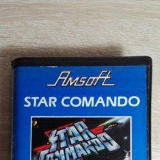 Videojuegos y Consolas: STAR COMANDO[COMMANDO]-AMSTRAD CASSETTE CON ESTUCHE NEGRO-AMSOFT-AÑO 1984-MUY BUEN ESTADO.DIFÍCIL.. Lote 151433094